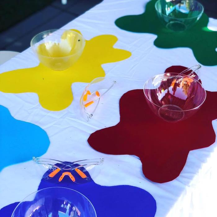 Slime Splatter Table Settings from a Girly Science Party on Kara's Party Ideas | KarasPartyIdeas.com (9)