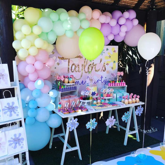 Pastel Science Themed Dessert Table from a Girly Science Party on Kara's Party Ideas | KarasPartyIdeas.com (14)