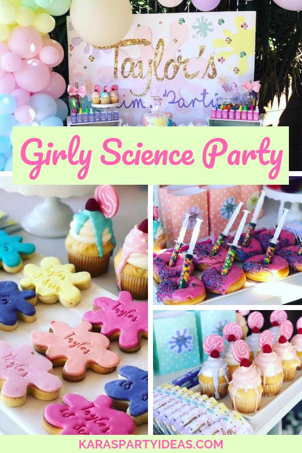 Girly Science Party via KarasPartyIdeas - KarasPartyIdeas.com