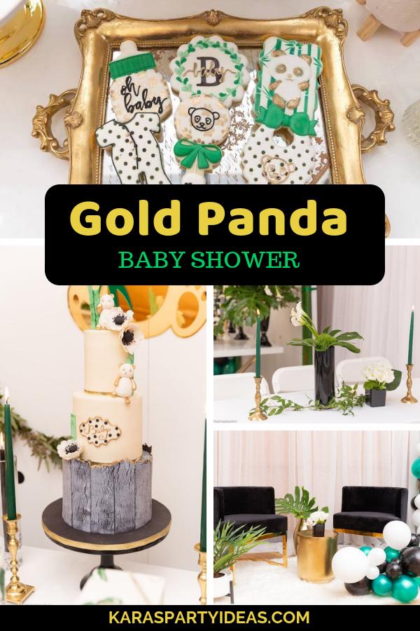 Gold Panda Baby Shower via Kara's Party Ideas - KarasPartyIdeas.com