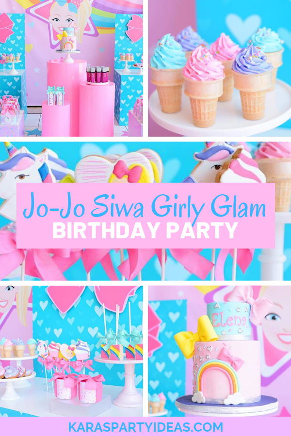 Jo-Jo Siwa Girly Glam Birthday Party via Kara's Party Ideas - KarasPartyIdeas.com