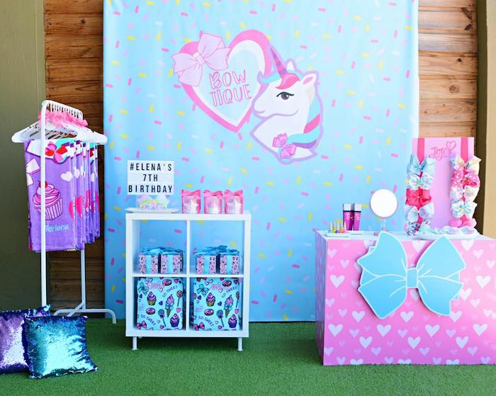 Favor Bow-tique from a JoJo Siwa Girly Glam Birthday Party on Kara's Party Ideas | KarasPartyIdeas.com (15)
