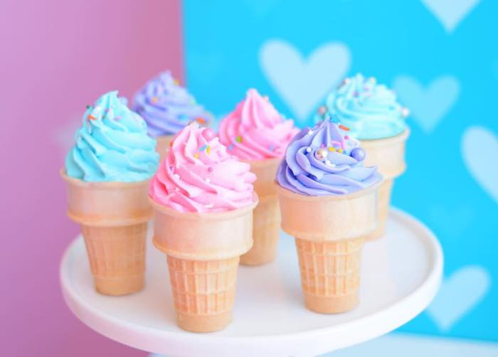 Ice Cram Cone Cupcakes from a JoJo Siwa Girly Glam Birthday Party on Kara's Party Ideas | KarasPartyIdeas.com (14)