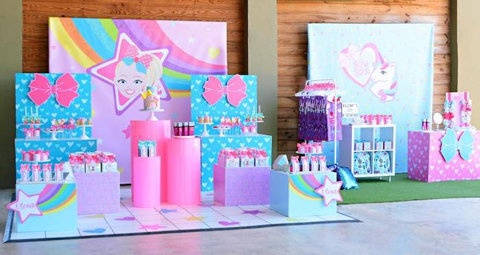 JoJo Siwa Girly Glam Birthday Party on Kara's Party Ideas | KarasPartyIdeas.com (11)
