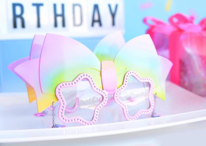 JoJo Siwa-inspired Bow Glasses from a JoJo Siwa Girly Glam Birthday Party on Kara's Party Ideas | KarasPartyIdeas.com (10)