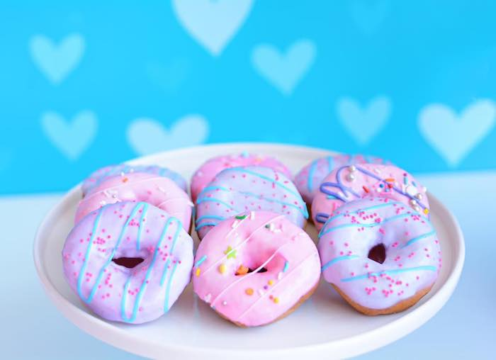 Pink + Purple Donuts from a JoJo Siwa Girly Glam Birthday Party on Kara's Party Ideas | KarasPartyIdeas.com (8)