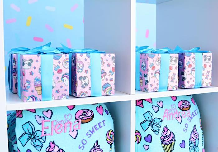 Favors + Gift Boxes from a JoJo Siwa Girly Glam Birthday Party on Kara's Party Ideas | KarasPartyIdeas.com (7)