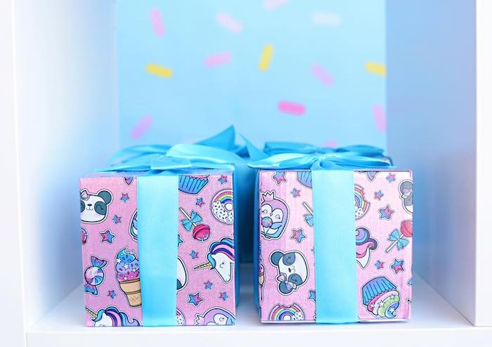 Favor Boxes from a JoJo Siwa Girly Glam Birthday Party on Kara's Party Ideas | KarasPartyIdeas.com (5)