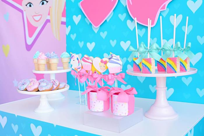 JoJo Siwa-inspired Dessert Table from a JoJo Siwa Girly Glam Birthday Party on Kara's Party Ideas | KarasPartyIdeas.com (17)