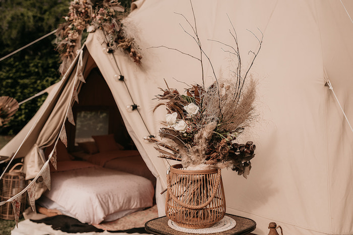 Boho Bloom + Centerpiece from a Luxe Bohemian Sleepover Party on Kara's Party Ideas | KarasPartyIdeas.com (29)