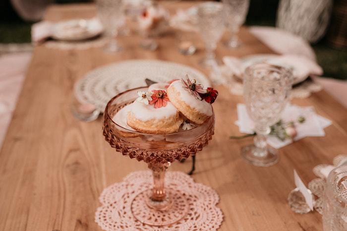 Boho Doughnuts from a Luxe Bohemian Sleepover Party on Kara's Party Ideas | KarasPartyIdeas.com (28)