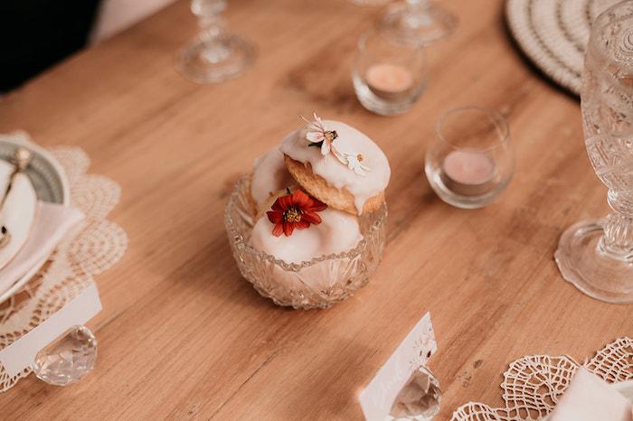 Boho Doughnuts from a Luxe Bohemian Sleepover Party on Kara's Party Ideas | KarasPartyIdeas.com (27)