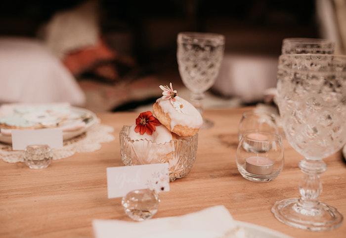 Boho Doughnuts from a Luxe Bohemian Sleepover Party on Kara's Party Ideas | KarasPartyIdeas.com (26)