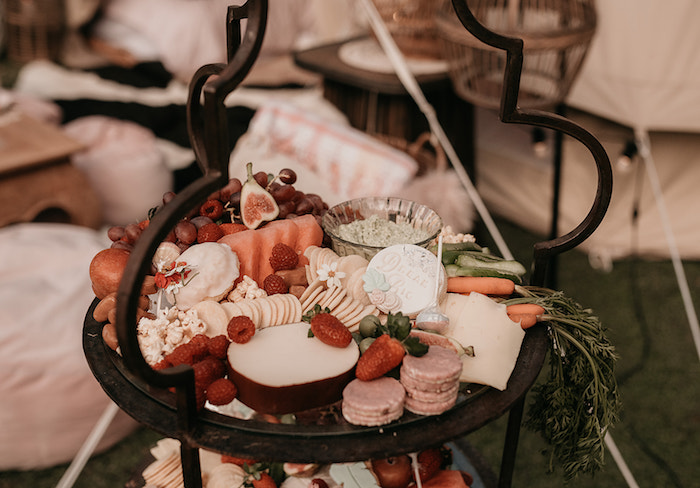Charcuterie Platter from a Luxe Bohemian Sleepover Party on Kara's Party Ideas | KarasPartyIdeas.com (13)
