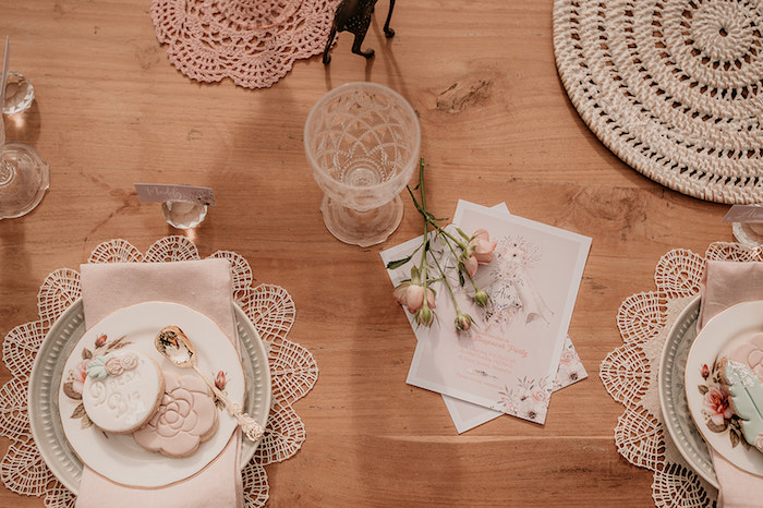 Boho Party Table Settings from a Luxe Bohemian Sleepover Party on Kara's Party Ideas | KarasPartyIdeas.com (35)