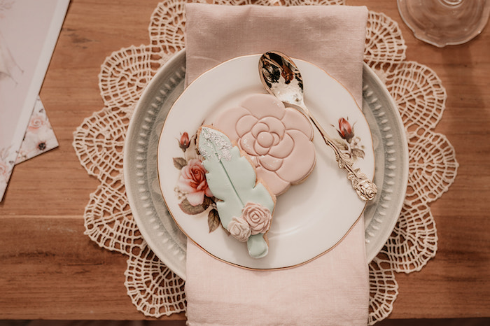 Boho Cookies + Table Setting from a Luxe Bohemian Sleepover Party on Kara's Party Ideas | KarasPartyIdeas.com (34)