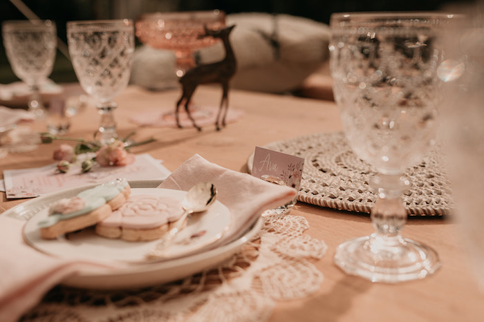 Boho Place Card + Table Setting from a Luxe Bohemian Sleepover Party on Kara's Party Ideas | KarasPartyIdeas.com (31)
