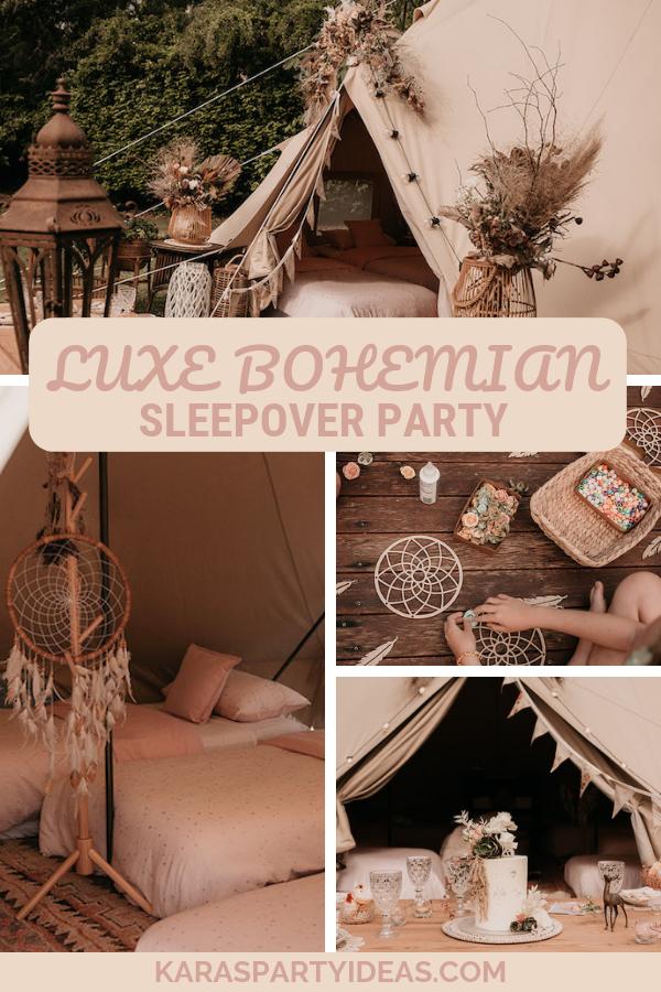Luxe Bohemian Sleepover Party via Kara's Party Ideas - KarasPartyIdeas.com
