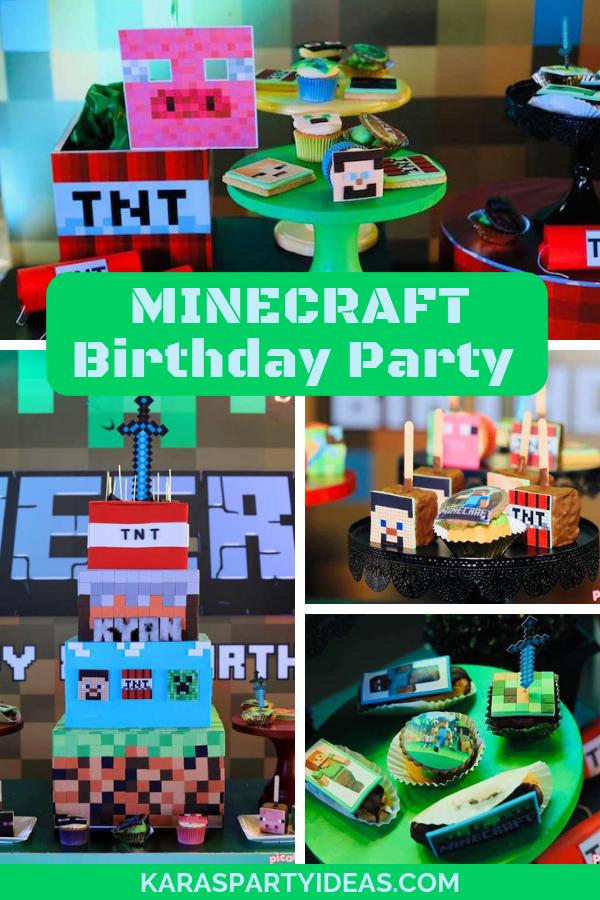 MINECRAFT Birthday Party via Kara's Party Ideas - KarasPartyIdeas.com