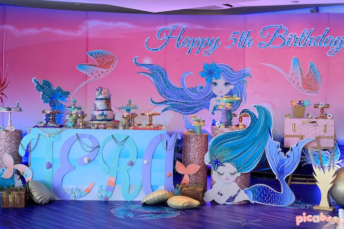 Magical Mermaid Birthday Party on Kara's Party Ideas | KarasPartyIdeas.com (26)