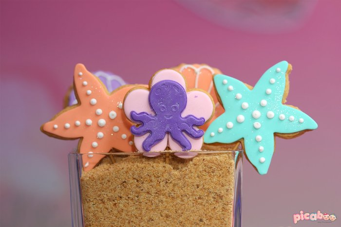 Under the Sea Cookies from a Magical Mermaid Birthday Party on Kara's Party Ideas | KarasPartyIdeas.com (24)