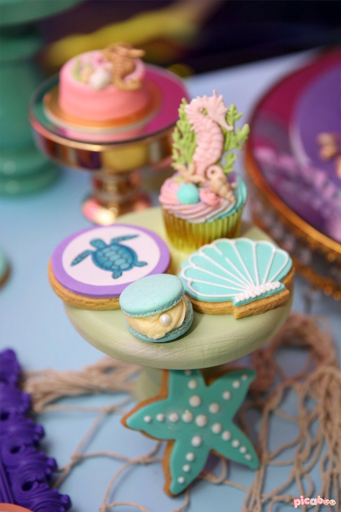 Under the Sea Cookies + Sweets from a Magical Mermaid Birthday Party on Kara's Party Ideas | KarasPartyIdeas.com (23)