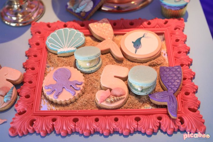 Under the Sea Cookies from a Magical Mermaid Birthday Party on Kara's Party Ideas | KarasPartyIdeas.com (22)