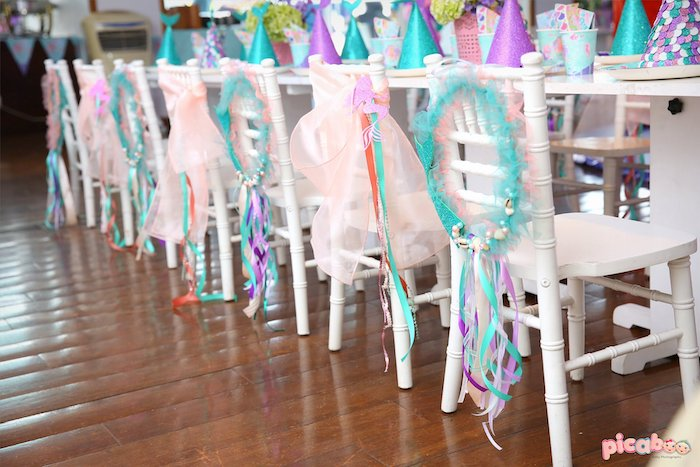 Under the Sea Party Chairs from a Magical Mermaid Birthday Party on Kara's Party Ideas | KarasPartyIdeas.com (19)
