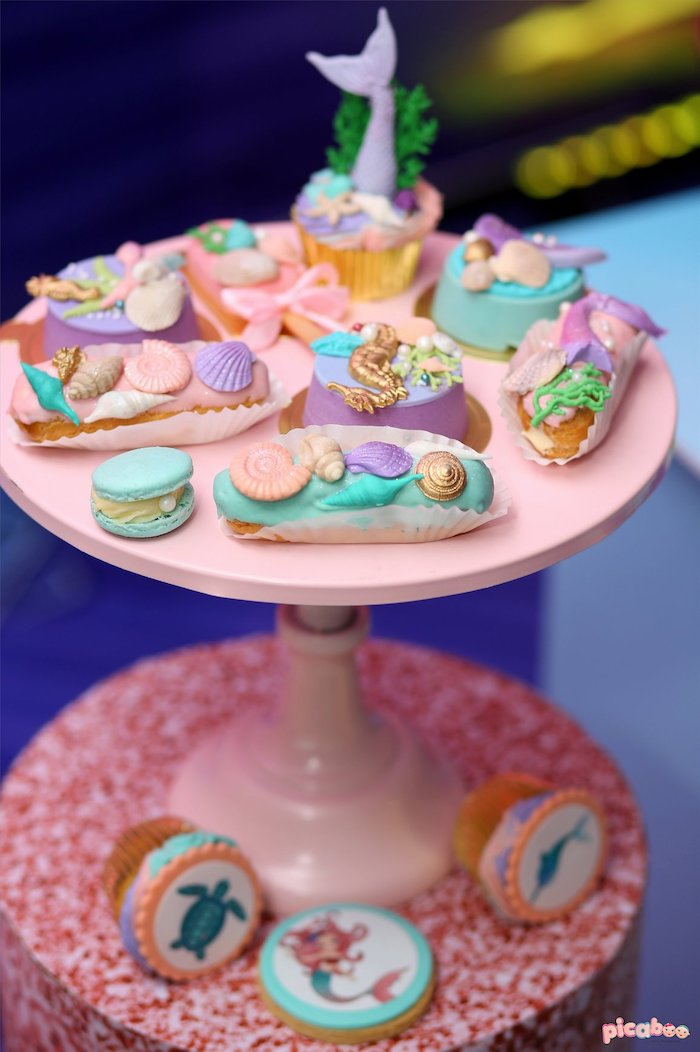 Under the Sea Sweets from a Magical Mermaid Birthday Party on Kara's Party Ideas | KarasPartyIdeas.com (6)