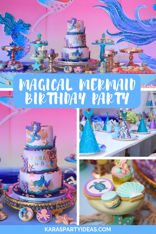 Magical Mermaid Birthday Party via Kara's Party Ideas - KarasPartyIdeas.com