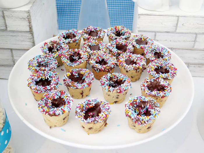 Cookie Dessert Cups from a Milk & Cookies Baptism Party on Kara's Party Ideas | KarasPartyIdeas.com (15)