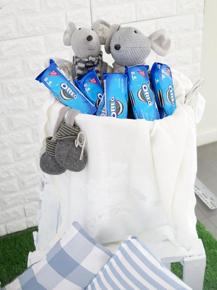 Oreo Packs from a Milk & Cookies Baptism Party on Kara's Party Ideas | KarasPartyIdeas.com (27)