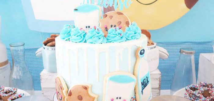 Milk & Cookies Baptism Party on Kara's Party Ideas | KarasPartyIdeas.com (4)