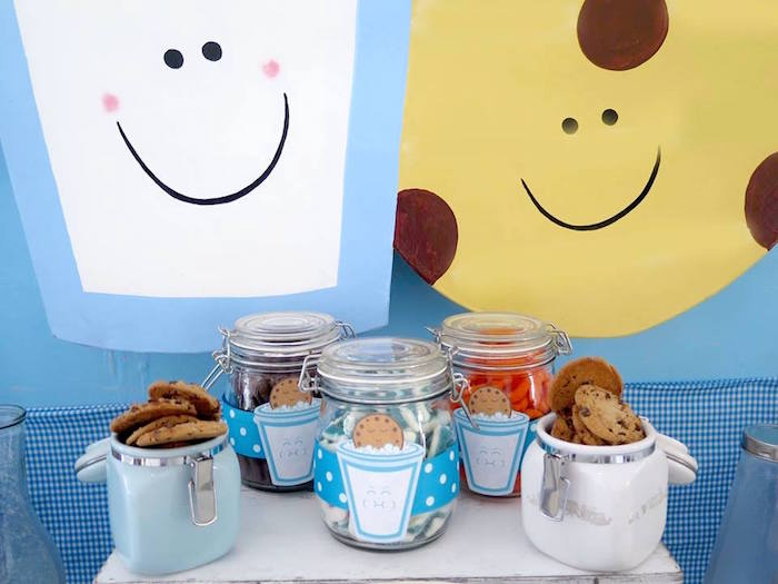 Cookie Jars from a Milk & Cookies Baptism Party on Kara's Party Ideas | KarasPartyIdeas.com (26)