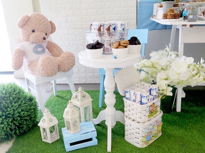 Cookies + Milk and Bear from a Milk & Cookies Baptism Party on Kara's Party Ideas | KarasPartyIdeas.com (20)