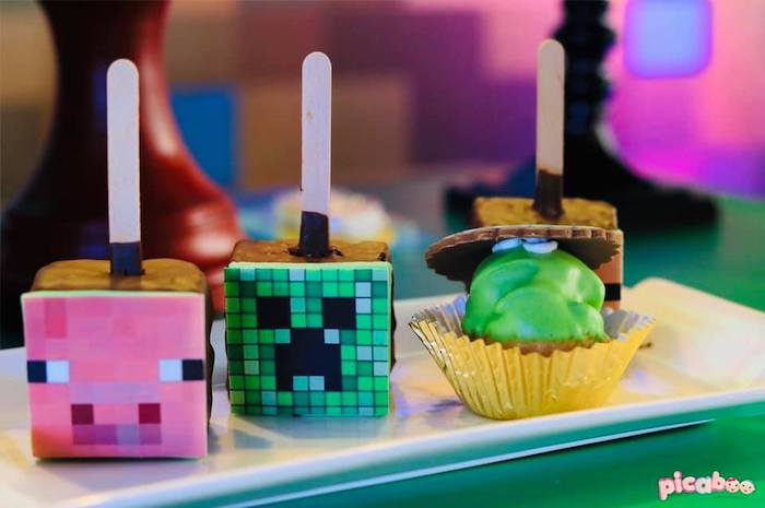 Minecraft Themed Desserts from a Minecraft Birthday Party on Kara's Party Ideas | KarasPartyIdeas.com (17)