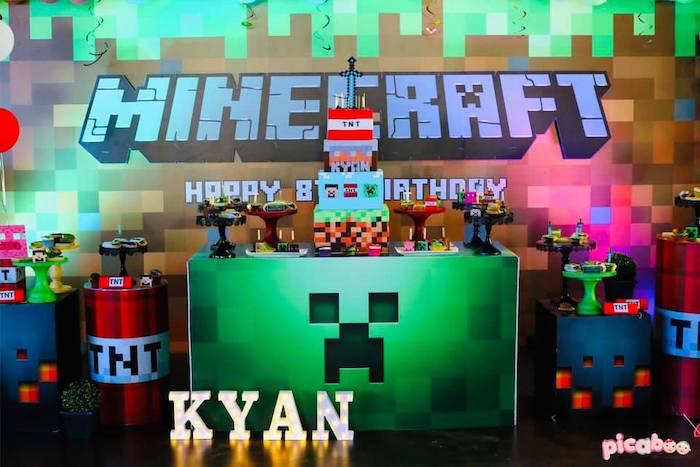 Minecraft Birthday Party on Kara's Party Ideas | KarasPartyIdeas.com (12)