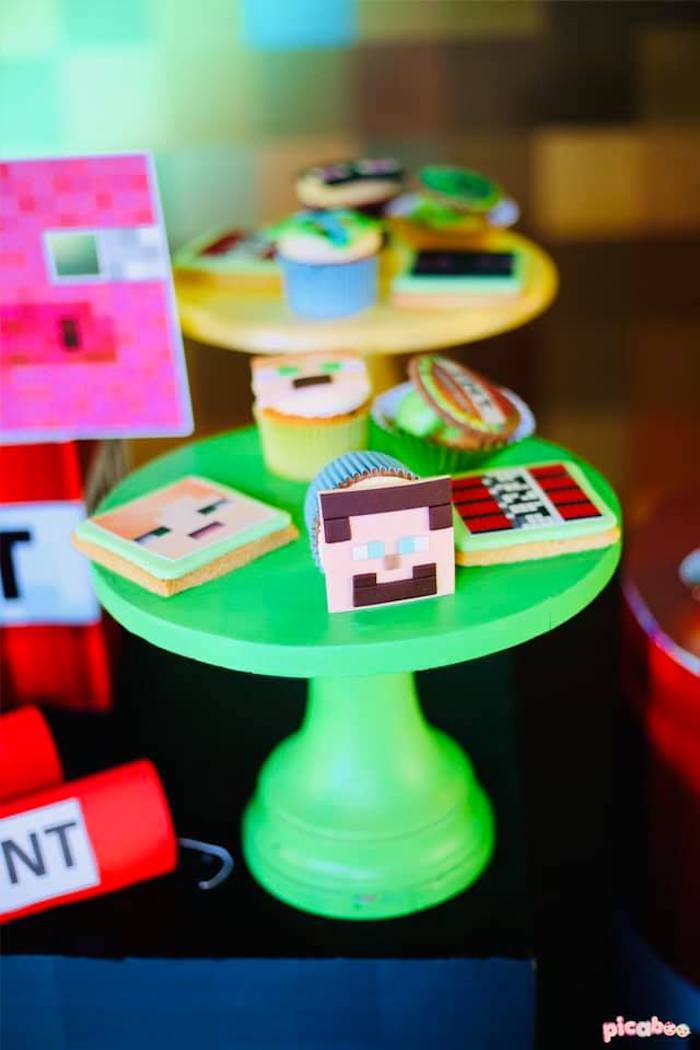 Minecraft-inspired Desserts + Sweets from a Minecraft Birthday Party on Kara's Party Ideas | KarasPartyIdeas.com (8)