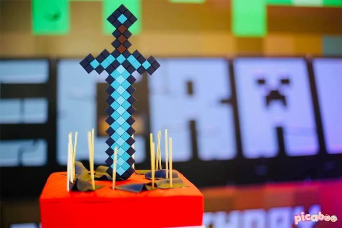 Minecraft Birthday Party on Kara's Party Ideas | KarasPartyIdeas.com (7)