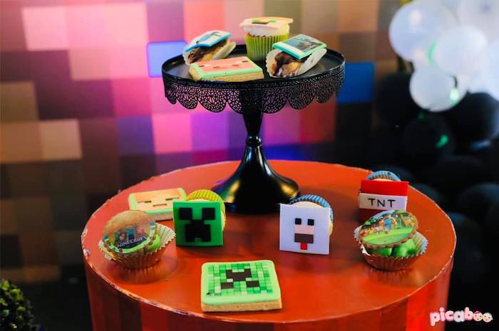 Minecraft-inspired Desserts + Sweets from a Minecraft Birthday Party on Kara's Party Ideas | KarasPartyIdeas.com (6)