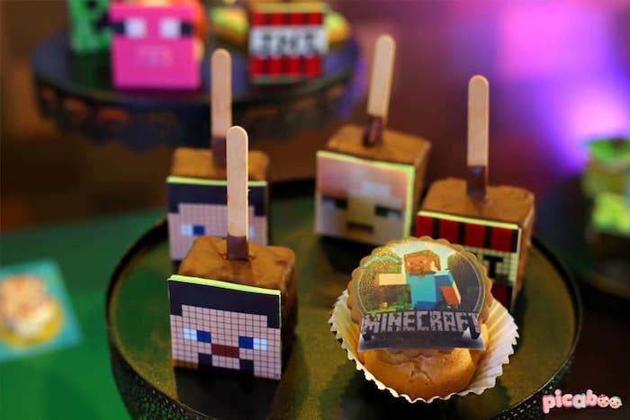 Minecraft Desserts from a Minecraft Birthday Party on Kara's Party Ideas | KarasPartyIdeas.com (5)