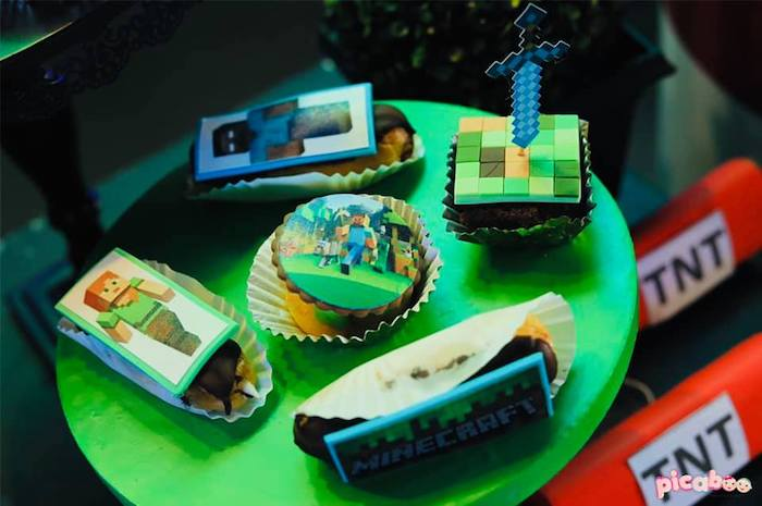 Minecraft Sweets from a Minecraft Birthday Party on Kara's Party Ideas | KarasPartyIdeas.com (30)