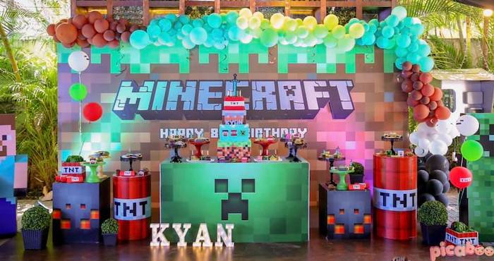 Minecraft Birthday Party on Kara's Party Ideas | KarasPartyIdeas.com (25)