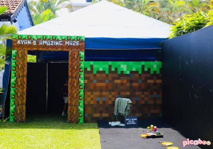 Minecraft Maze from a Minecraft Birthday Party on Kara's Party Ideas | KarasPartyIdeas.com (24)
