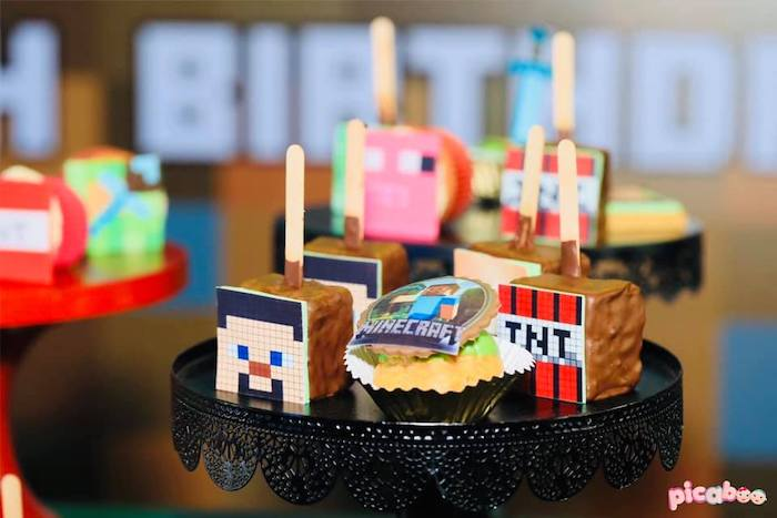 Minecraft Themed Desserts + Sweets from a Minecraft Birthday Party on Kara's Party Ideas | KarasPartyIdeas.com (23)