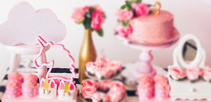 Modern Floral Unicorn Birthday Party on Kara's Party Ideas | KarasPartyIdeas.com (3)