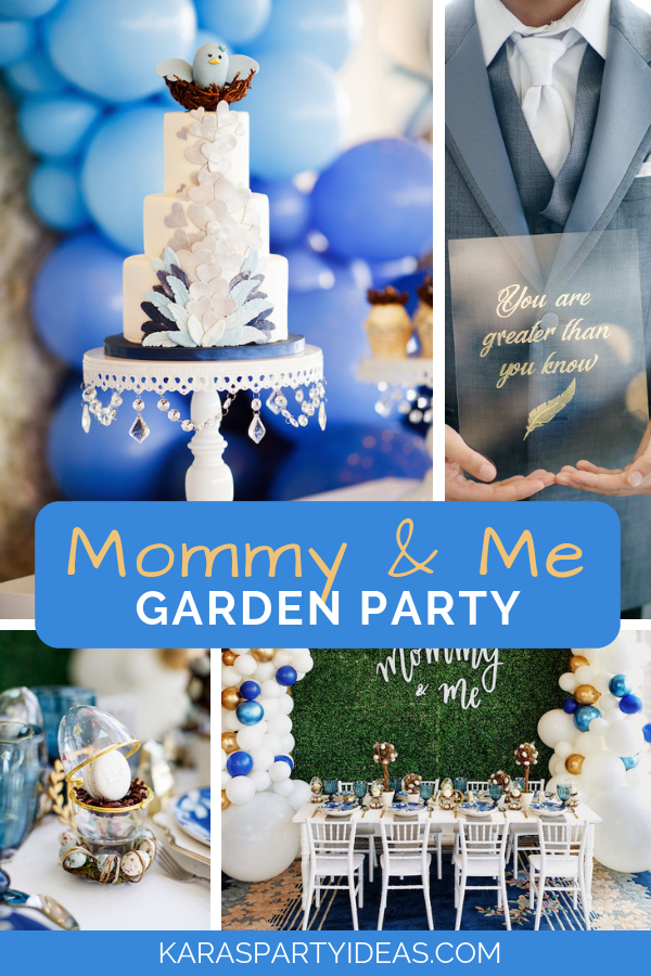 Mommy & Me Garden Party via Kara's Party Ideas - KarasPartyIdeas.com