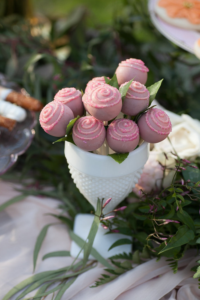 Rose Cake Pops from a Mother's Day Garden Brunch on Kara's Party Ideas | KarasPartyIdeas.com (36)