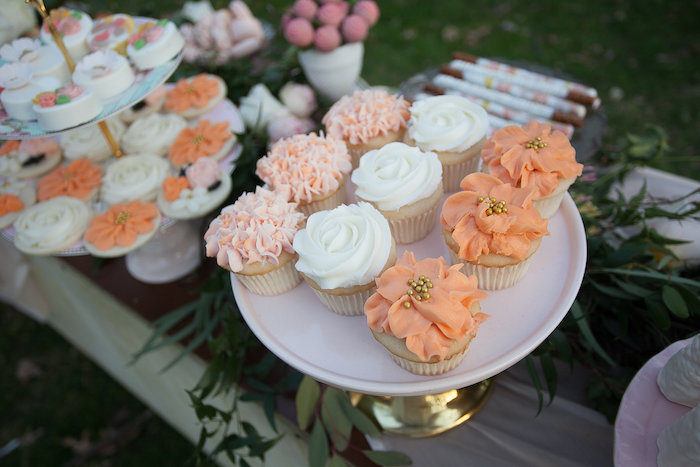 Flower-iced Cupcakes from a Mother's Day Garden Brunch on Kara's Party Ideas | KarasPartyIdeas.com (31)