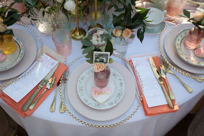 Elegant Floral + Gold Table Setting from a Mother's Day Garden Brunch on Kara's Party Ideas | KarasPartyIdeas.com (28)